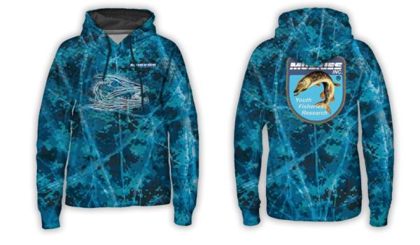 Muskies Inc winter fishing hoodie